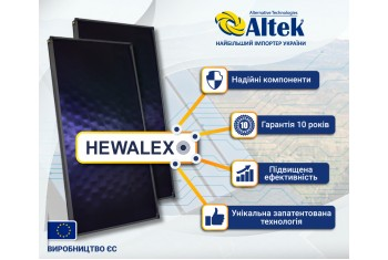 Передові всесезонні геліоколектори HEWALEX