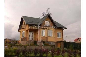 Киевская обл., Гелиосистема (ГВС и отопление), частный дом
