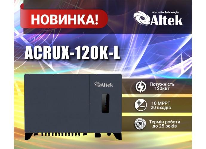 Мережевий інвертор від Altek для промислових сонячних електростанцій ACRUX-120K-L
