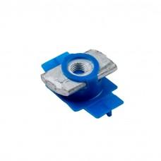 Гайка специальная с пластиковым фиксатором (синяя) ALTEK 18х37 М8